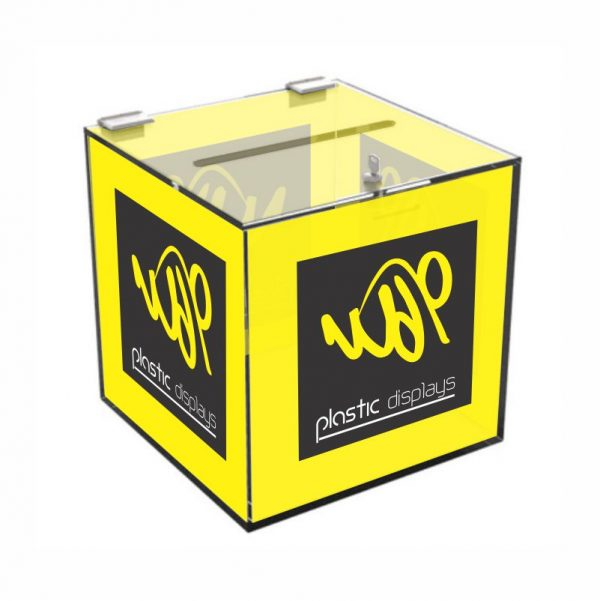 Branded Suggestion Box - 4 sided branding
