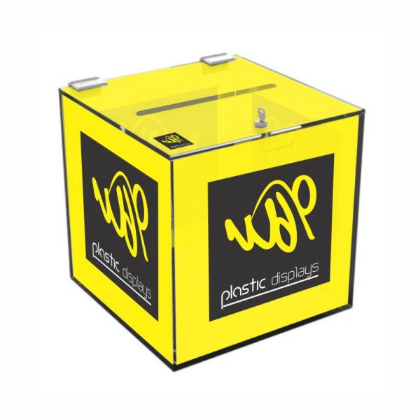 Branded Suggestion Box - 6 sided branding