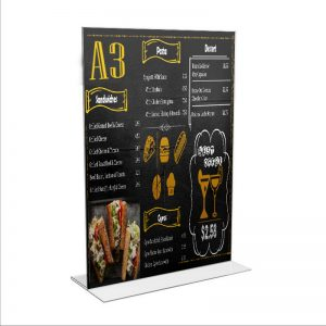 A3 Double Sided Menu Stand - We Do Pro Displays - Acrylic Fabrication