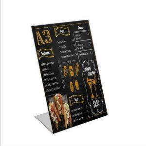 A3 Single Sided Menu Stand - We Do Pro Displays - Acrylic Fabrication